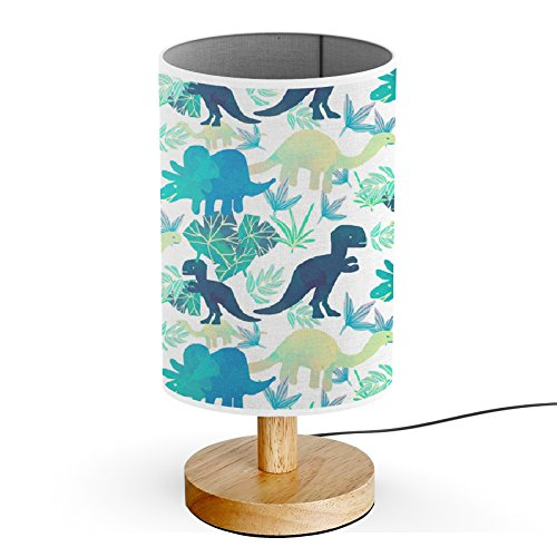 ArtLights - Wood Base Decoration Desk / Table / Bedside Lamp [ Watercolor T-Rex Others Dinosaurs ]