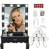UMFun LED Vanity Makeup Mirror Lights Kits Dimmable Table Bulbs Vanity Makeup Lights