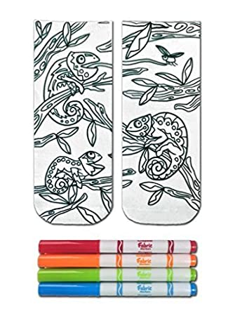 02eff880b4 Buy Crayola Color-In Socks with 1 Pair of Socks and 4 Fabric Markers -  Chameleon Design Online at Low Prices in India - Amazon.in