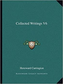 Book Collected Writings V6