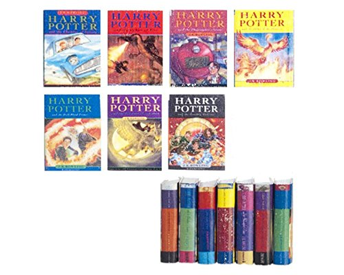 Dollhouse Miniature 1:12 Scale Set of Seven Harry Potter Books