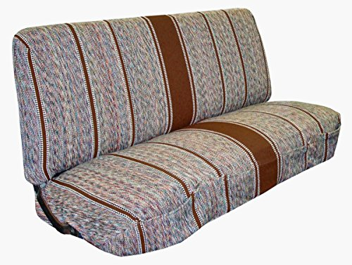 Van Bench Seat (West Coast Auto Universal Baja Saddle Blanket Bench Full Size Seat Cover Fits Ford, Chevrolet, Dodge, and Full Size Pickup Trucks (Brown))