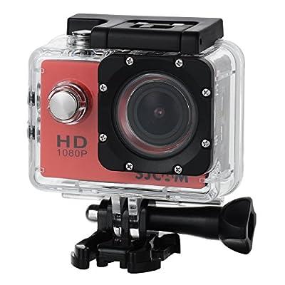Video Camera - Red Outdoor Sports Digital Camera 1080P Waterproof Video Camera