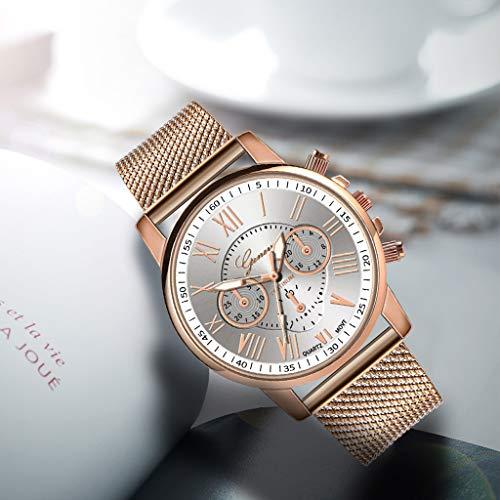 Pocciol Fashion Military Stainless Steel Quartz Watch Womens Casual Watch Luxury Analog Wristwatch (White) by Pocciol Cheap-Nice Watch (Image #3)