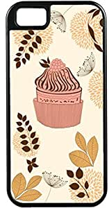 iPhone 5 5S Cases Customized Gifts Cover Artistic cupcake design with floral design
