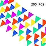 PortableFun Pennant Flag Banners,Nylon,250 Ft,Multicolor,200 PCS