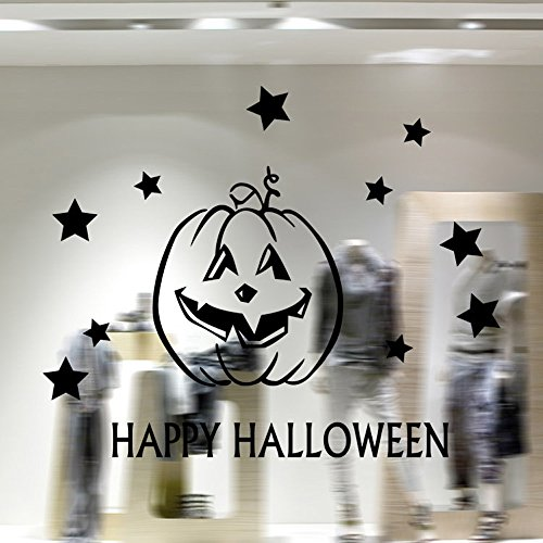 OTTATAT Wall Stickers for Bedroom Girls 2019,Vinyl Removable 3D Halloween Smiling Pumpkin Decals for Wall Decal Easy to Stick Lingerie Party, Beach Gift for Mother Free Deliver