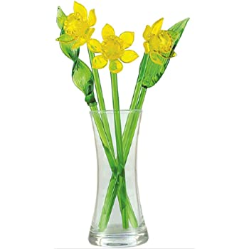 Amazon Daffodils Hand Blown Glass Flower Set Includes Vase