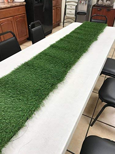 Premium Pro Turf- 1' X 8' All Green Synthetic Grass. Perfect Table Runner!