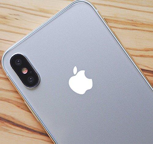 White Color Changer Overlay for Apple iPhone X Logo Vinyl Sticker Decal (Logo Mug Apple)
