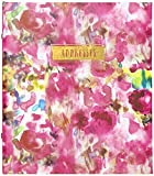 C.R. Gibson Floral Watercolor Refillable 6-Ring Address Book, 440 Entries, 6.5' W x 7.25' L