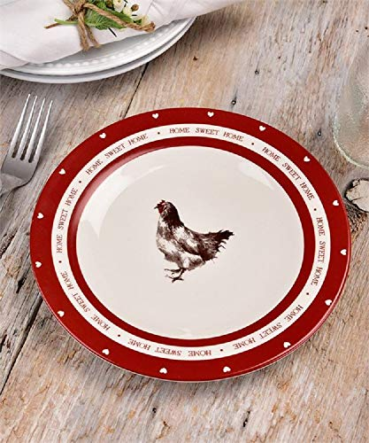 Giftcraft Rooster Design Plate (Rooster Accent Plate)