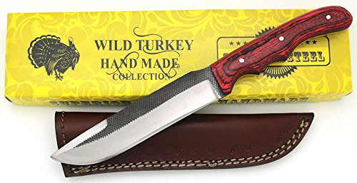 Wild Turkey Handmade Full Tang Real File Hunting Knife w/Leather Sheath Outdoors Hunting Camping Fishing Outdoors (SM-17) Review