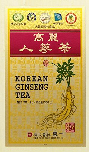 Korean Ginseng Tea - Korean Ginseng Tea in Wood Case 0.10oz(3g) x 100 Packets