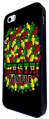 1095 - Cool Fun Rasta Reggae Music Jamaican Love Weed High Jamming Design iphone SE - 2016 Coque Fashion Trend Case Coque Protection Cover plastique et métal - Noir