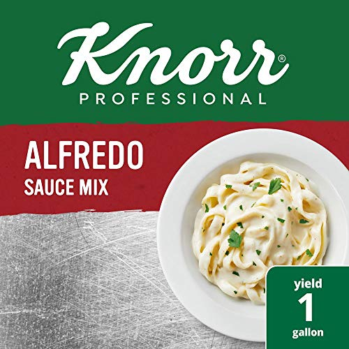 Knorr Professional Alfredo Sauce Mix Made with Real Parmesan Cheese, Vegetarian, No added MSG, 0g Trans Fat, 1 lb, Pack of 4 (Hunger Makes The Best Sauce)