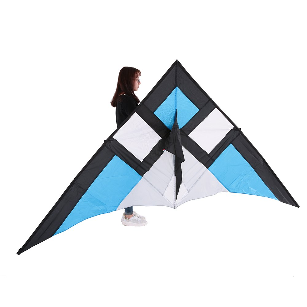 Docooler 290*135cm Delta Wide Single Line Stunt Kite for Adults Kids Beach Vacation Family Fun
