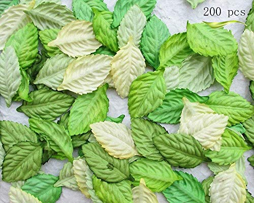 200Pcs Artificial Leaves, Assorted Colors for Halloween, Fall Weddings & Autumn Parties Decoration (One Size, 4 Assorted Colors)]()