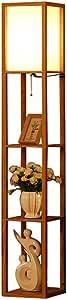Fly® Living Room Wooden Floor Lamp Shelf 159cm Retro Home Decoration Vertical Table Lamp