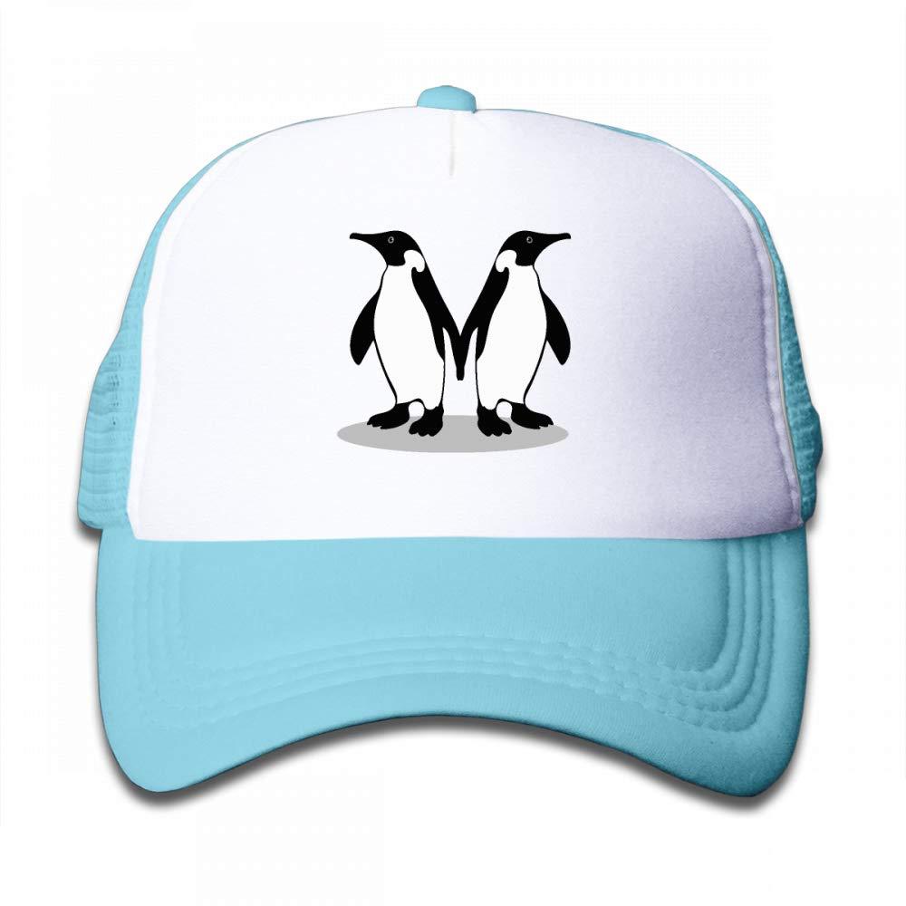 NO4LRM Kid's Boys Girls Penguin Friendship Youth Mesh Baseball Cap Summer Adjustable Trucker Hat