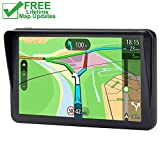Car GPS, 7 inch Portable 8GB Navigation System for Cars, Lifetime Map Updates, Real Voice Turn-to-Turn Alert Vehicle GPS Sat-Nav
