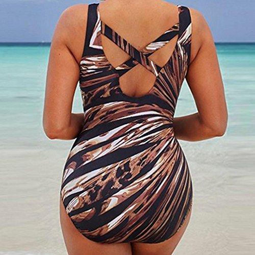 da Alta Intero bagno bagno da Size Bagno Costumi Spiaggia Push Bikini Spiaggia ❤️ Mare ❤️ Costume Donna Vita up 2 Multicolore da Donna Ragazza Plus pezzi Costume beautyjourney Donna OZX7Exw