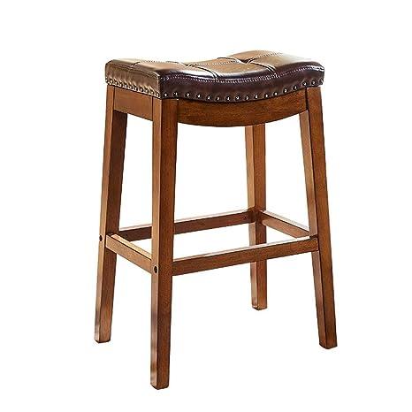 Stupendous Amazon Com Cylq Backless Leather Bar Stoolsheavy Duty Ibusinesslaw Wood Chair Design Ideas Ibusinesslaworg