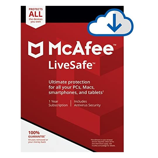 McAfee Live Safe 2021 Unlimited Devices Antivirus Internet and Identity Security Software, Safe Family, 1 Year…