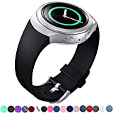Lakvom Silicone Sport Style Watch Band for Samsung Gear S2 - Black