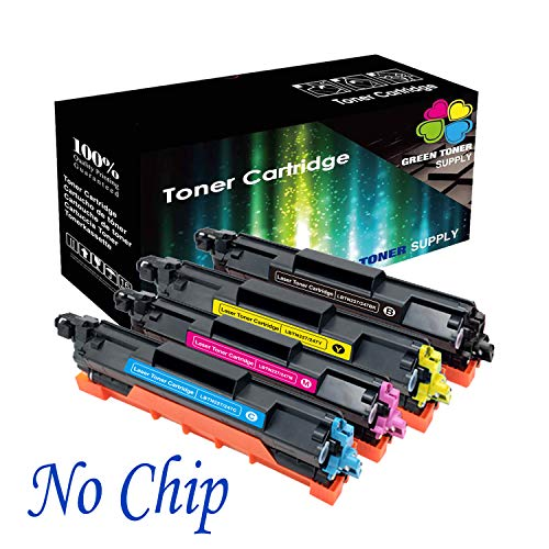 GTS Compatible TN223 / TN227 Toner Cartridge [NO CHIP] High Yield for Brother All-in-one Printer HL-L3210CW HL-L3230CDW HL-L3270CDW HL-L3290CDW MFC-L3710CW MFC-L3750CDW MFC-L3770CDW (1x BCYM) -  TN223/227