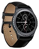 Samsung Gear S2 Classic Smartwatch w/ Rotating Bezel and Leather Strap - Black