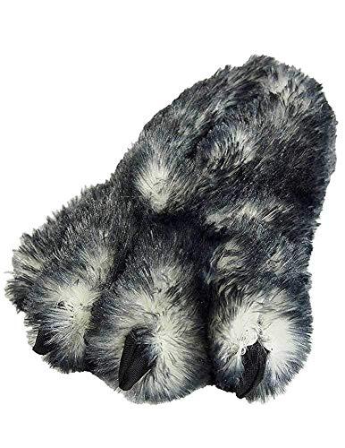 Wishpets Paw Slipper Shoes (Gray, -