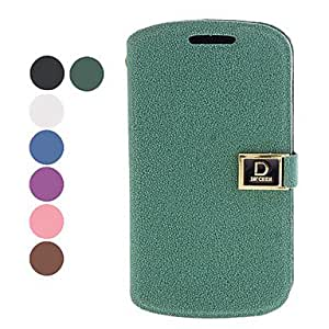 hao PU Leather Full Body Case with Stand and Card Slot for Samsung Galaxy Trend Duos I7562 (Assorted Colors) , Purple