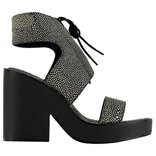 Windsor Smith Mujer Plataforma Punta Abierta Zapatos Verano Casual Sandalias White/Stingray