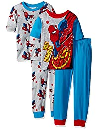 Boys 4-Piece Cotton Pajama Set