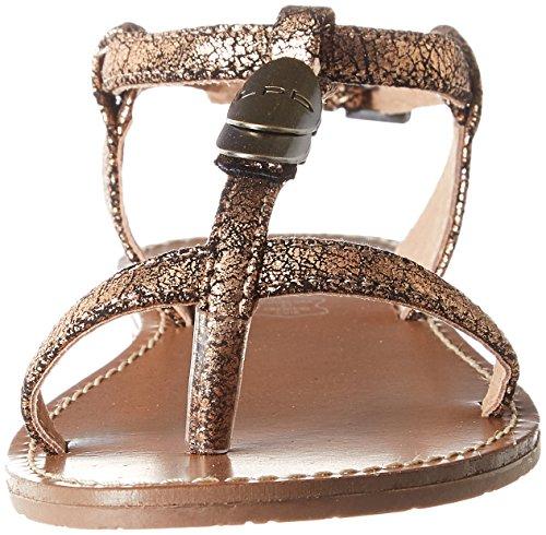 Bride Bombes Bronze Sandales Lucinda Marron P'tites Cheville Les Femme xOTISwaqa5