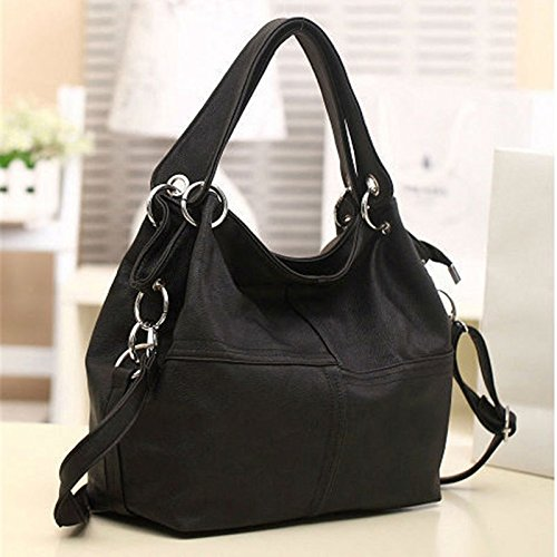 women-leather-satchel-handbag-shoulder-tote-lady-messenger-crossbody-bag-black
