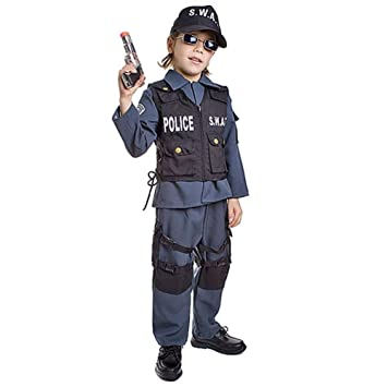 Dress up America - Traje infantado de Policía SWAT, 99-115 cm (327-S)