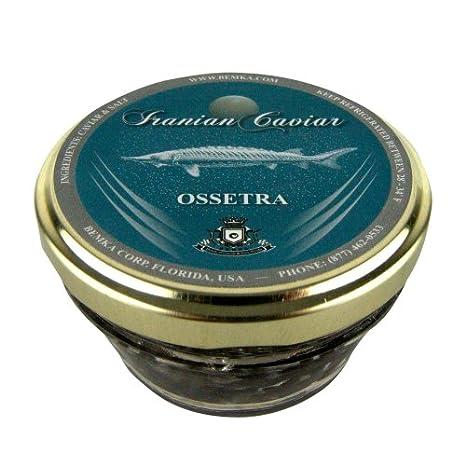 Bemka.com Iranian Ossetra Wild Caviar, 2-Ounce Jar