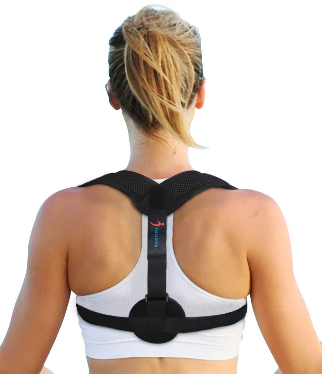 【2019 New】Innova Posture Corrector for Women & Men - Adjustable Effective & Comfortable Upper Back Brace for Clavicle Support & Providing Pain Relief from Neck & Back by GS1