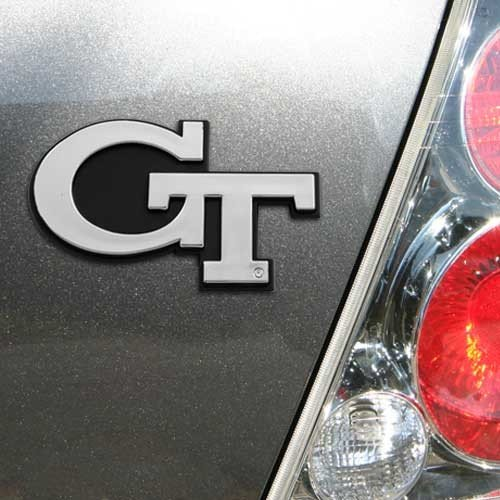 NCAA Georgia Tech Chrome Automobile Emblem