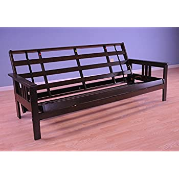full size monterey wood futon frame only mattress not included espresso kitchen. Black Bedroom Furniture Sets. Home Design Ideas