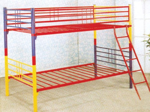 Twin / Twin Convertible Bunk Bed in Multi-colored ()