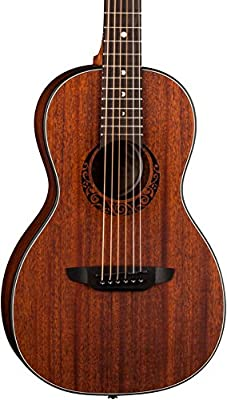 Luna Guitars Gypsy Parlor Mahogany Acoustic Guitar,