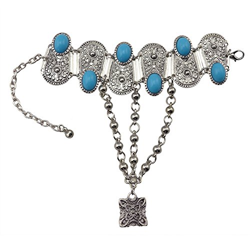Boosic Bohemian Compressed Turquoise Bracelet Finger