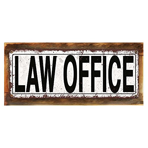 Framed, Outdoor Law Office 6''x16'' Metal Sign, Rustic, Attorney, Lawyer, Hand-Crafted from reclaimed materials by Homebody Accents ®