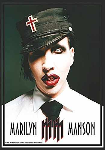 - Marilyn Manson Uniform Official Textile Flag Poster