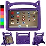 All-New F ir e HD 8 2018/2017/2016 Case,F i r e HD 8 Tablet Case for Kids, Kids Shock Proof Convertible Handle Light Weight Protective Stand Cover Case for F ir e HD 8(Purple)