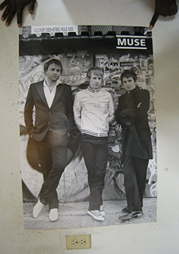 24×36 Muse Group Standing by Wall Music Poster Print