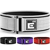 Element 26 Self-Locking Weight Lifting Belt | Premium Weightlifting Belt for Serious Crossfit, Weight Lifting, and Olympic Lifting Athletes (Medium, White)